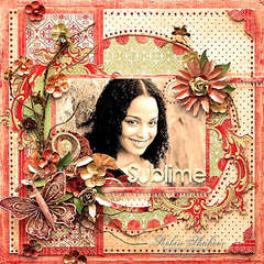 Sublime *Scrap That! October �Bella Rosa� Kit *