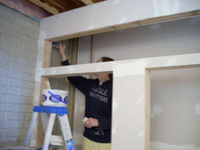 Finishing the closet area...