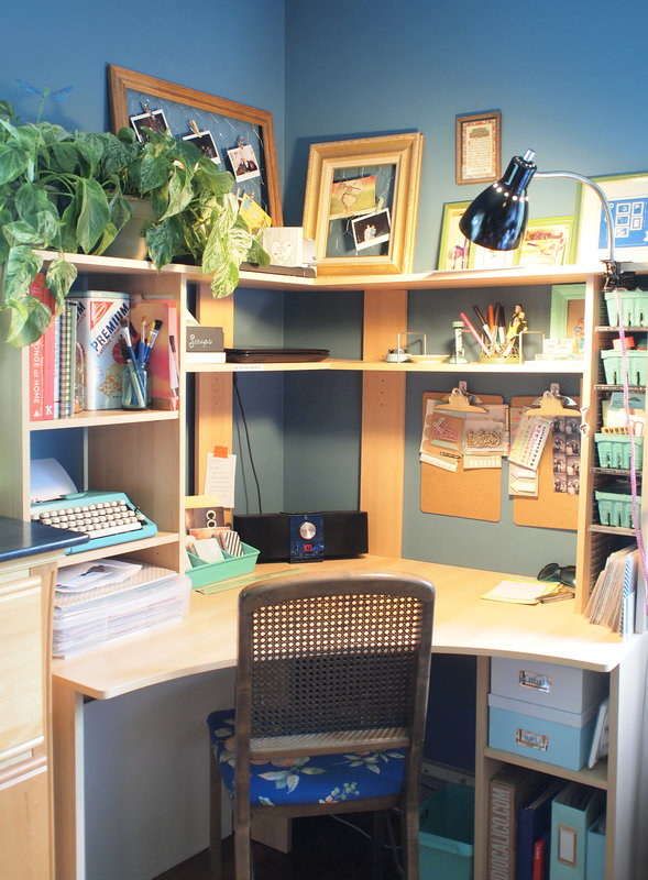 My New-To-Me-Desk and Scrapbooking Corner