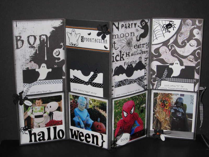 Boo - Halloween accordian folder
