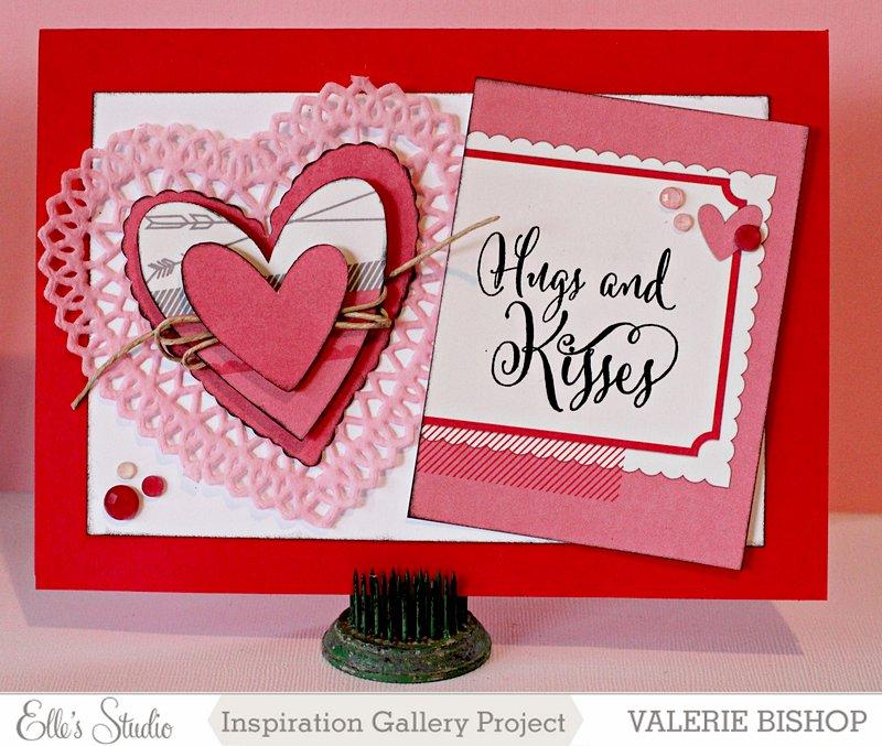 Hugs & Kisses Valentine Card