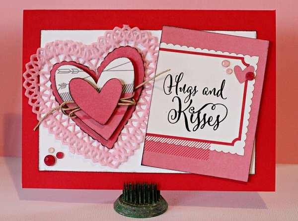 Hugs & Kisses Valentine Card **Elle's Studio**