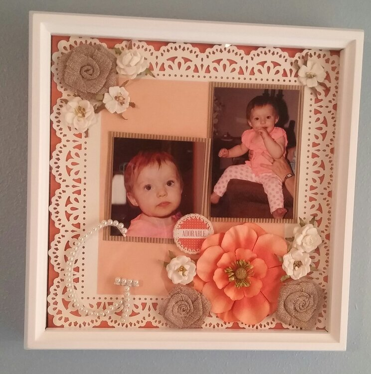 Framed layouts in craftroom