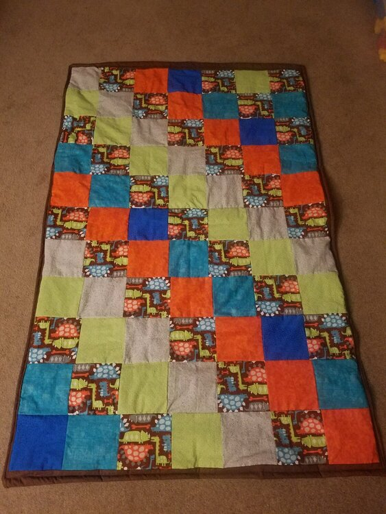 Baby quilt for Logan