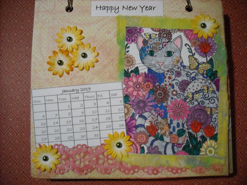 2019 Cat Calendar (January)