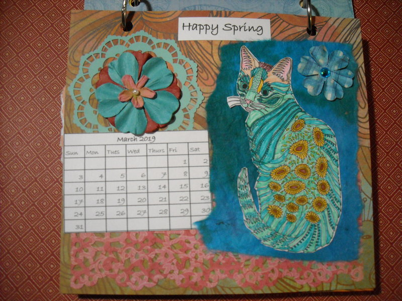 2019 Cat Calendar (March)