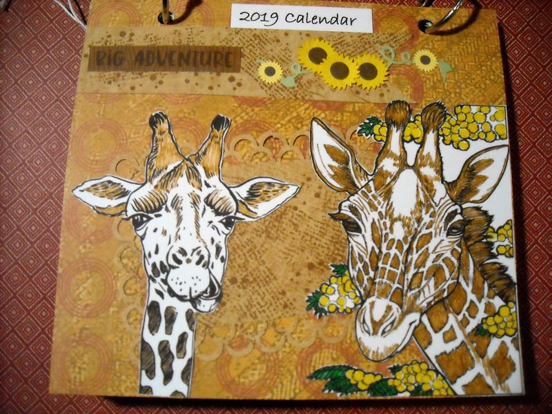 2019 Giraffe Calendar Cover