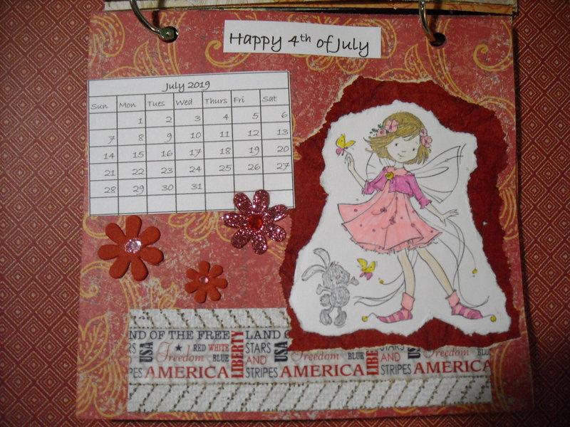 2019 Fairy Calendar (July)