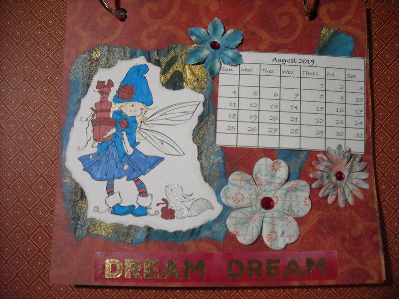 2019 Fairy Calendar (August)