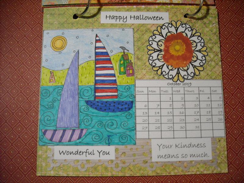 2019 Houses Calendar (October)