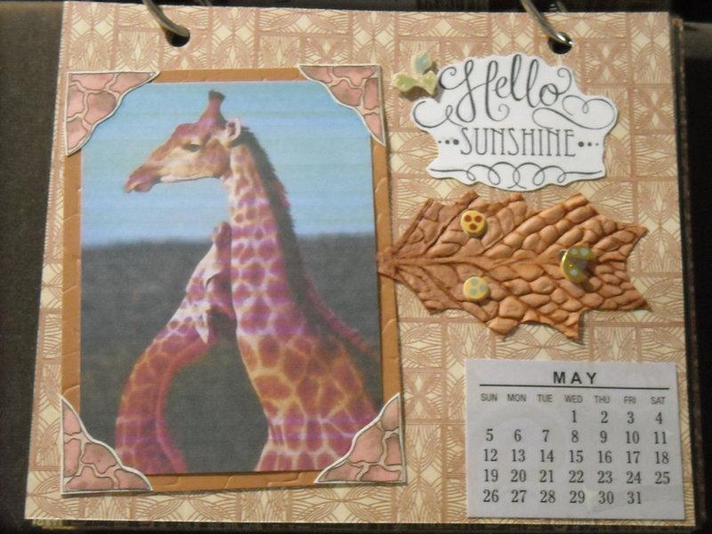 2019 Giraffe Calendar (May)