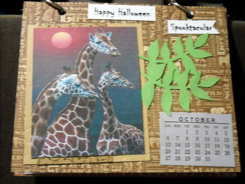 2019 Giraffe Calendar (October)