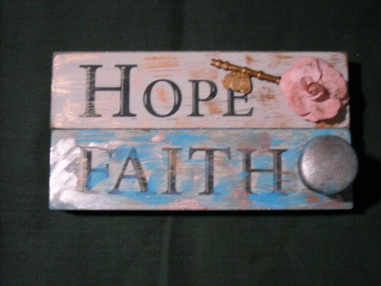 Hope & Faith Desk Plaques