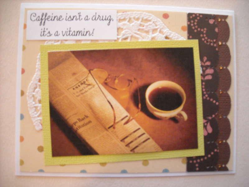 Caffeine isn't a drug it's a vitamin!