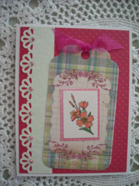 Floral Tag Card