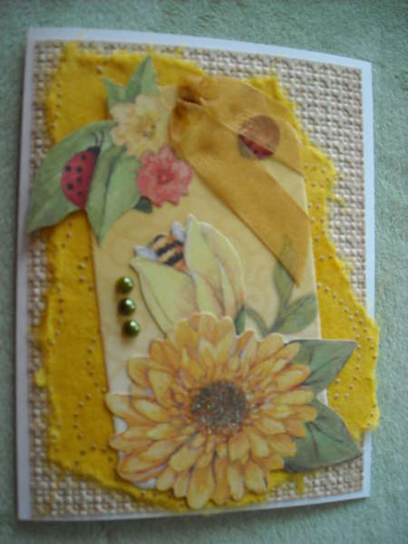 Bright Floral Tag Card
