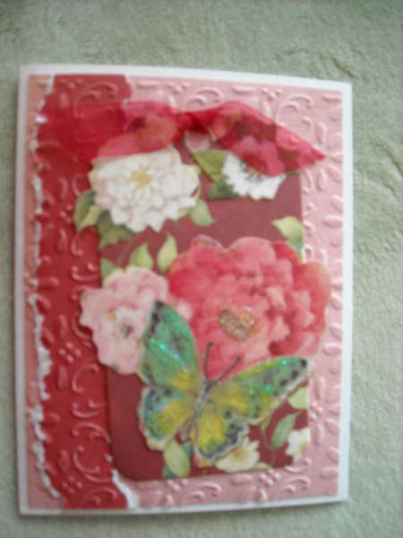 Flowers and Butterfly Tag Card