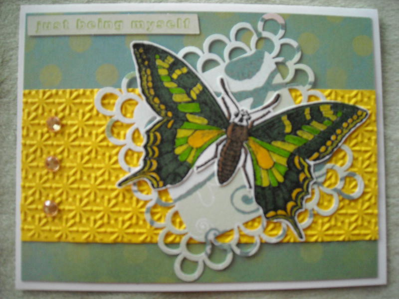 Green & Yellow Butterfly...