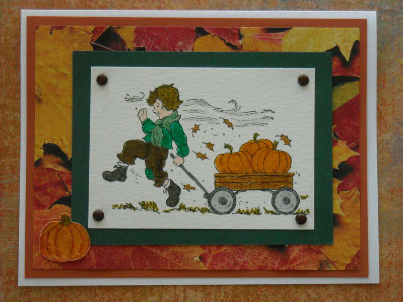 Cart full of Pumpkins