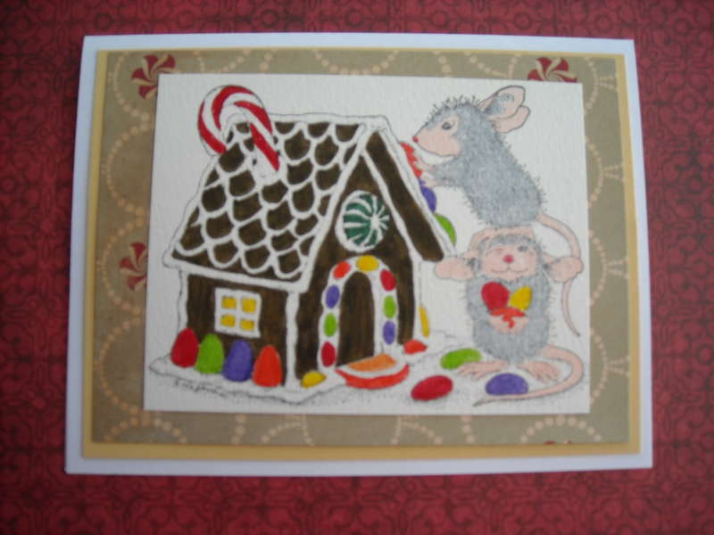 House Mouse & Gingerbread House