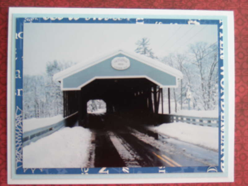 Saco River Covered Bridge in Conway, New Hampshire