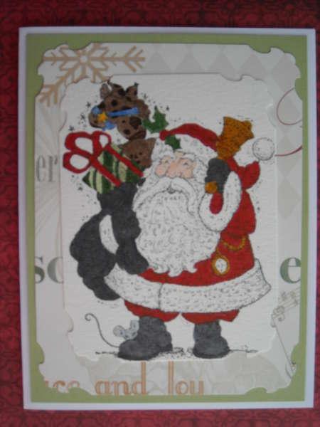 Here comes Santa...