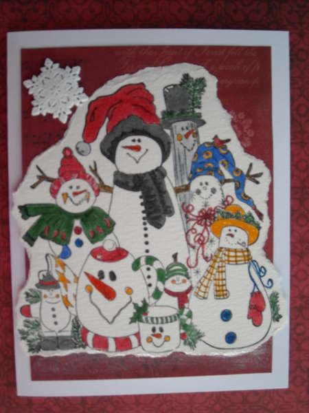 Many different snowmen...