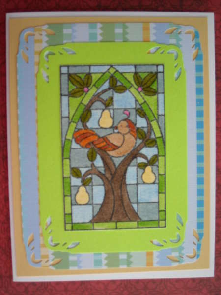 Stained glass Pear Tree