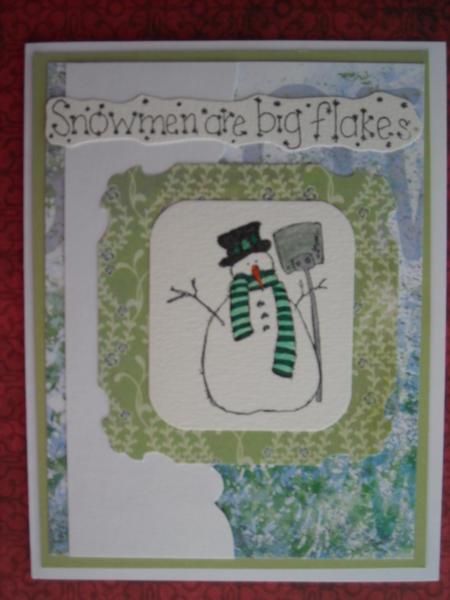 Snowmen are big flakes