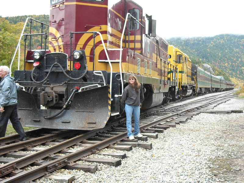 Daughter Dawn w/Conway Scenic Railroad Fall Foliage Train