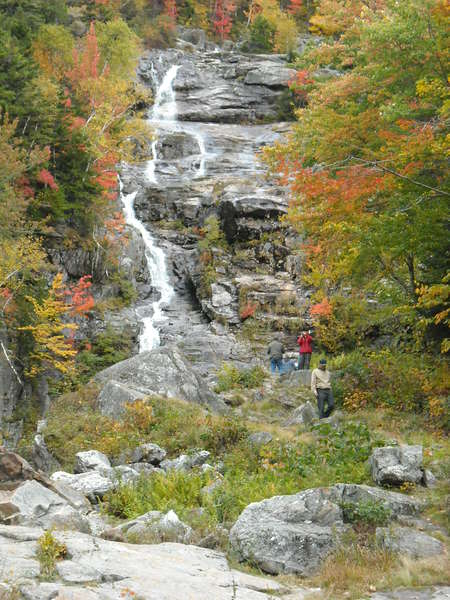 Silver Cascade Falls in Crawford Notch, New Hampshire
