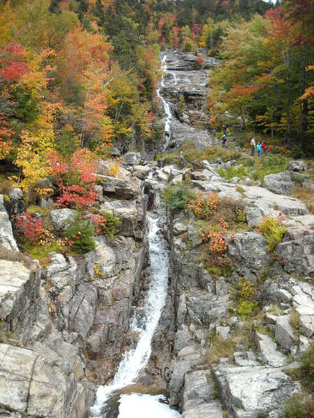 Silver Cascade Falls in Crawford Notch, New Hampshire