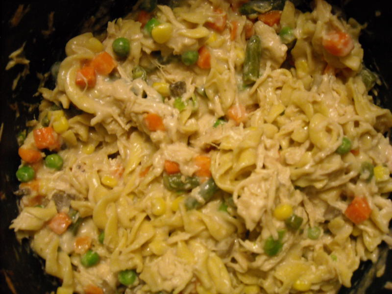 Crock Pot Chicken & Noodles