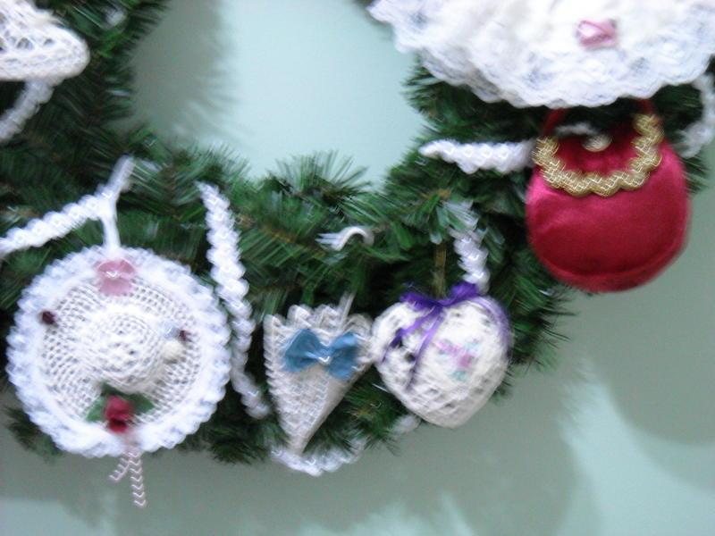 Vintage Wreath close-up