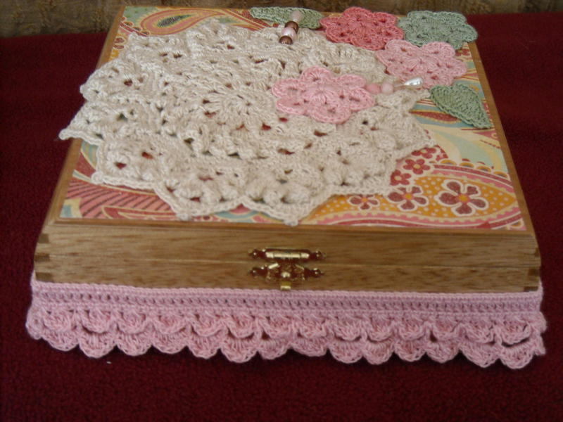 Decorated Cigar Box (top & front)