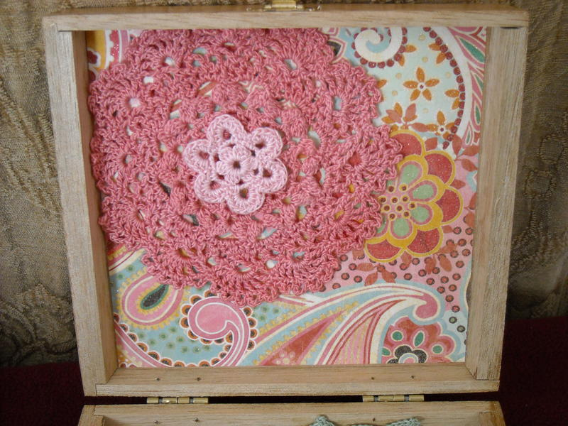 Decorated Cigar Box (Inside top)