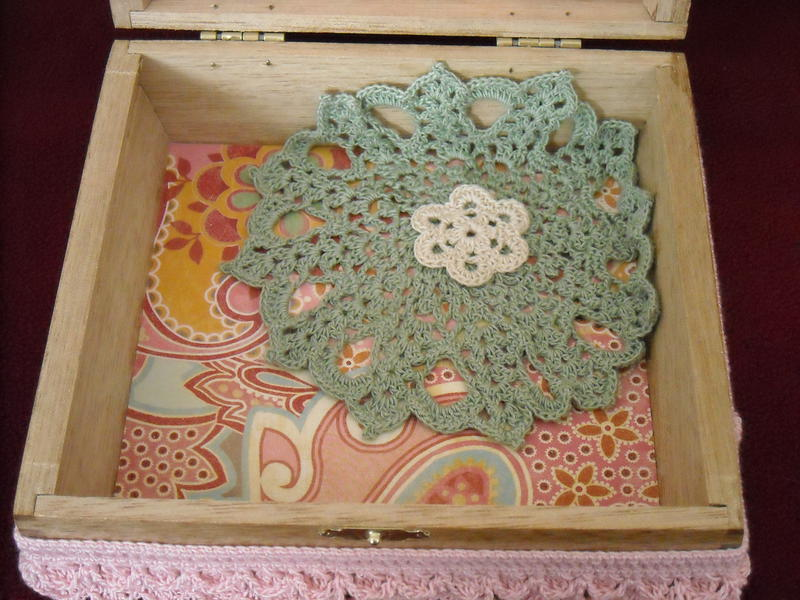 Decorated Cigar Box (inside bottom)
