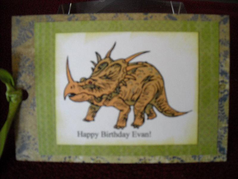 Dinosaur Gift Tag
