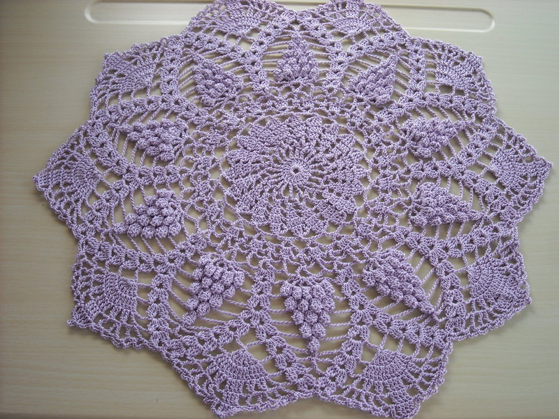 Soft Lavender Pineapple Doily