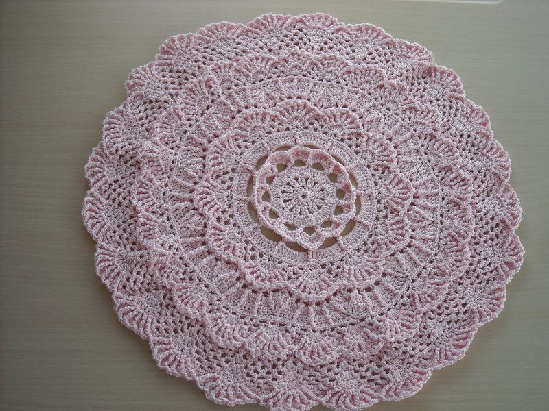 Soft Pink Doily