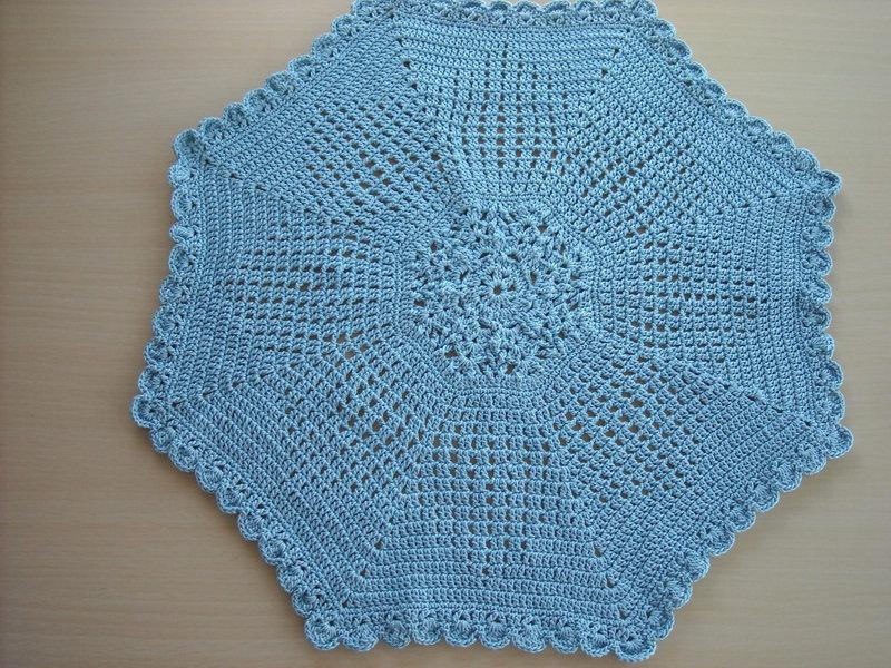 Delft Blue Crochet Doily