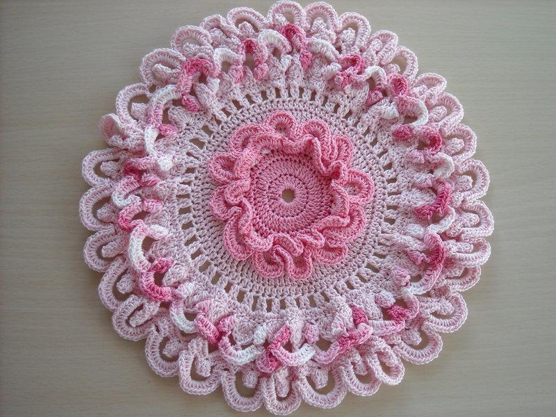 Ruffles in Pink Crochet Doily