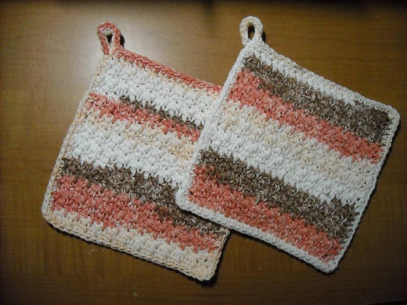 Pair of Crochet Pot Holders