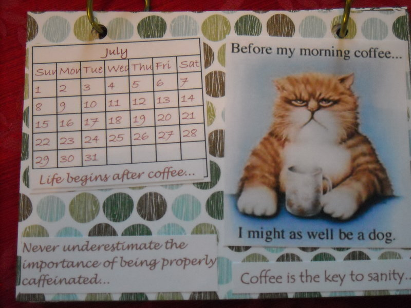 Coffee calendar - July