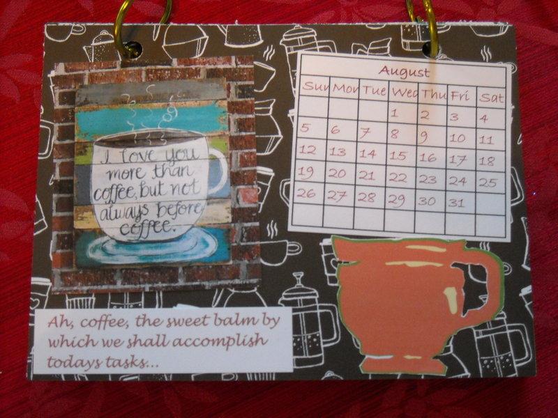 Coffee calendar - August