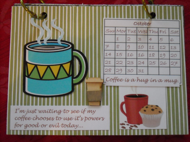 Coffee calendar - October