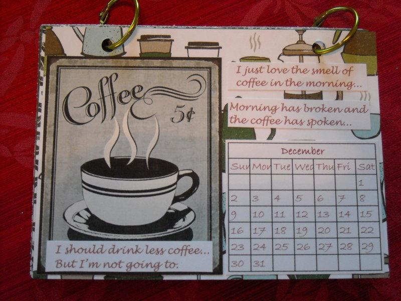 Coffee calendar - December