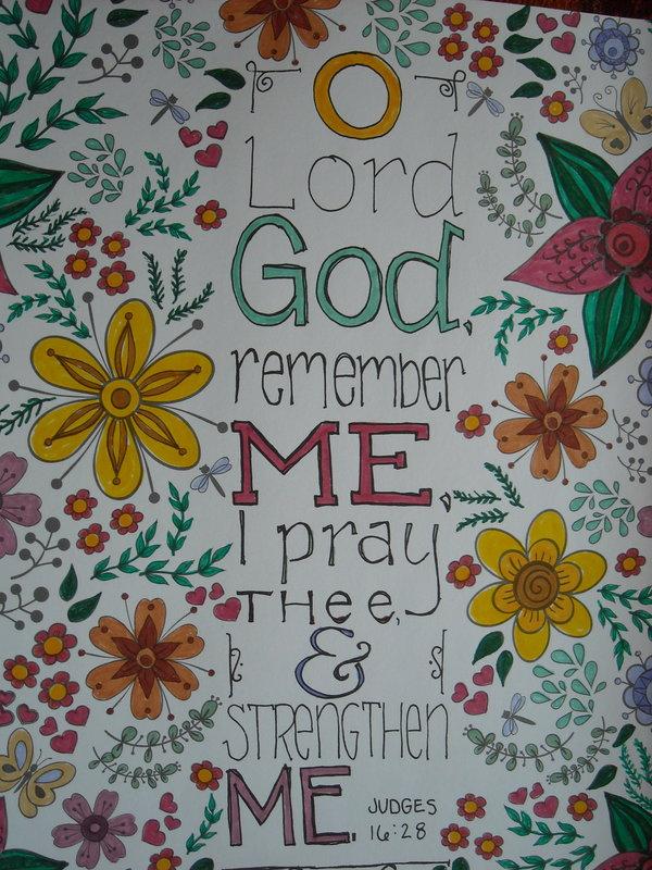 O Lord God remember Me