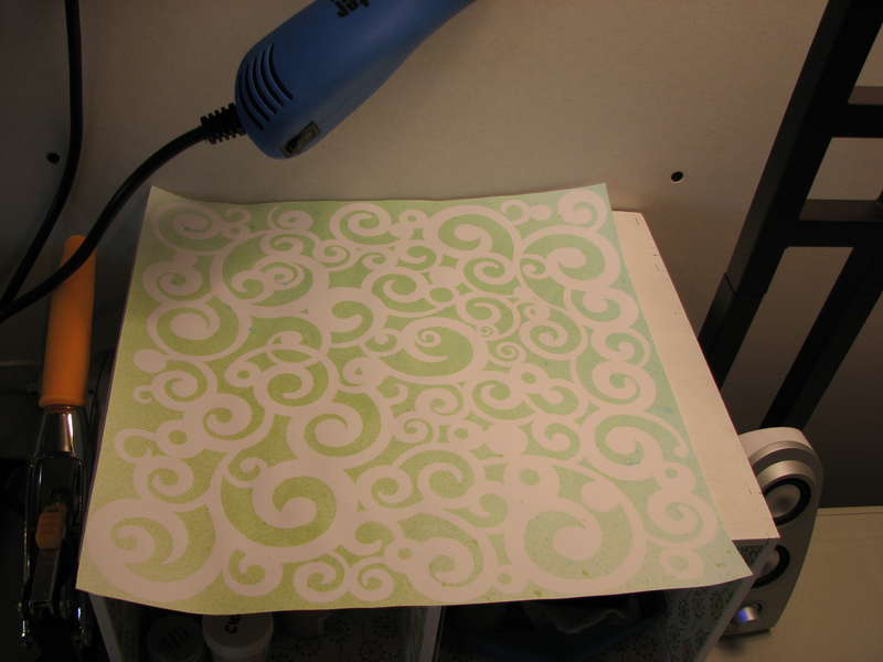 Swirly Glimmer misted background paper