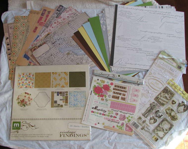 Vintage wedding kit papers